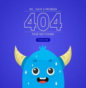 Illustration erreur 404