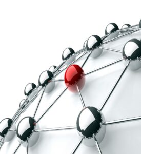 Bille que se distingue dans un réseau